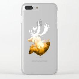 Deer Autumn Clear iPhone Case