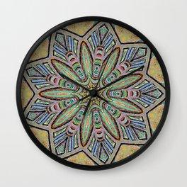 Stained Glass Window - Mandala Art Wall Clock