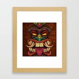 Tiki Head Style 2  Framed Art Print