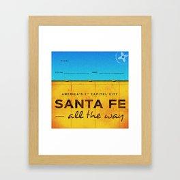 Santa Fe Framed Art Print