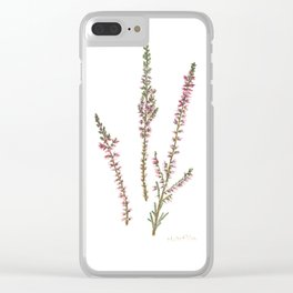 Heather plant Clear iPhone Case