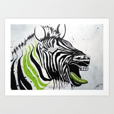 Zebra Streetstyle Art Print
