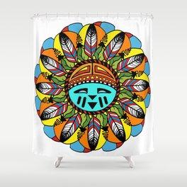 Hopi Sunshine Girl by Amanda Martinson Shower Curtain