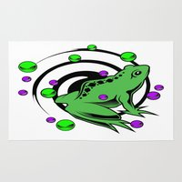 frog Area & Throw Rugs featuring Frog  by Michael Moriarty Photography