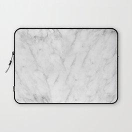 White Marble Print III Laptop Sleeve