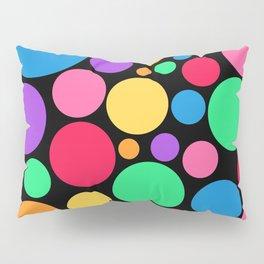 Rainbow Circles - Black BG Pillow Sham