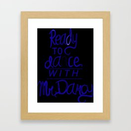 Dance with Mr. Darcy Framed Art Print