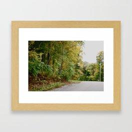 Road Bend Framed Art Print