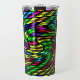 Tropicália #1 Abstract Art Portrait by Jéanpaul Ferro Travel Mug