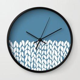 Half Knit Blue Wall Clock