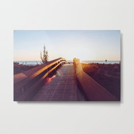 Boardwalk at Sunset Metal Print