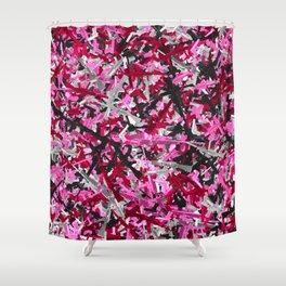 Pink guns camo Shower Curtain