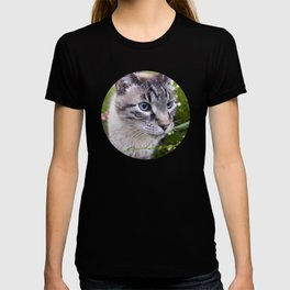 kitty in secret garden T-shirt