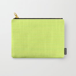 Banana and Lime Yellow and Green Stripes Carry-All Pouch