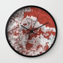 Rust White Red Wall Clock