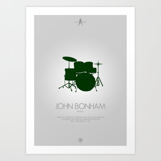 Musician Series - John Bonham Art Print