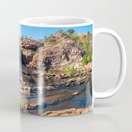 Panoramic view at Edith Falls, Katherine, Australia Coffee Mug
