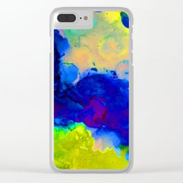 Expression in Blue Clear iPhone Case