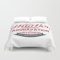 lyrics Duvet Covers featuring Faster & Louder • Punk Rock Lyrics by Designerpunk