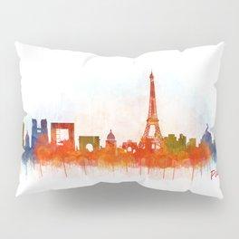 Paris City Skyline Hq v3 Pillow Sham