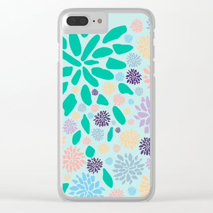 Floral Print Clear iPhone Case
