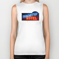 winchester Biker Tanks featuring Winchester Hotel by quickreaver