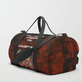Inspirational Rumi What You Seek Is Seeking You Quote Duffle Bag