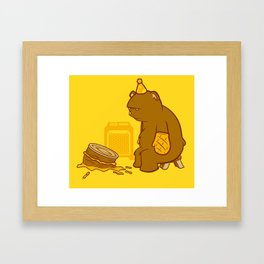 Birthday Bear Framed Art Print