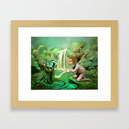 Anais and the Nymph Framed Art Print
