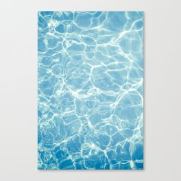 Pool, Pool Water, Swim, Swimming, Ripples, Waves, Summer, Beach, Ocean, Sun, California, Summertime Canvas Print