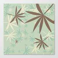 1d Canvas Prints featuring Leaves 1D by Patterns of Life