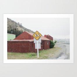 Penguins Crossing Art Print