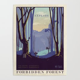 Explore The Forbidden Forest Poster