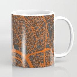 Moscow Map #1 orange Coffee Mug