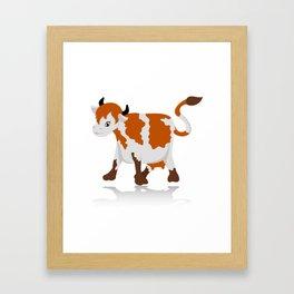 Cartoon cow Framed Art Print