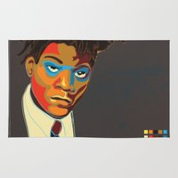 basquiat Area & Throw Rugs featuring Jean-Michel Basquiat by mr. michael temple