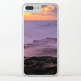 Seascape at sunset Clear iPhone Case