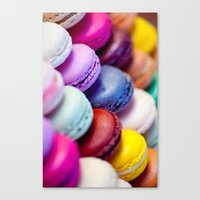 macaron Canvas Prints featuring Macaron by Electric Avenue
