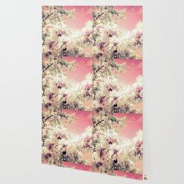 Peachy Pink Lavender Flowers Wallpaper