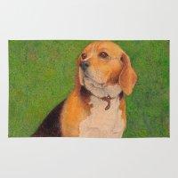 beagle Area & Throw Rugs featuring Beagle by irshi