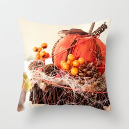 Autumn is coming Throw Pillow