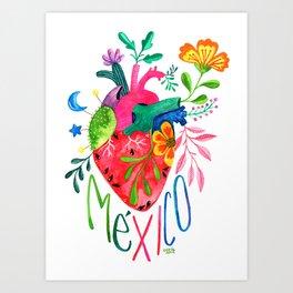 Corazón Mexicano Art Print