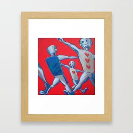 Our hearts march on Framed Art Print