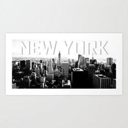 New York Black & White Sketch Art Print