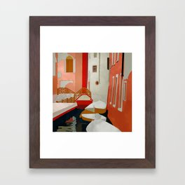 italy venice canale Framed Art Print