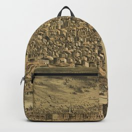 Vintage Pictorial Map of Tacoma WA (1890) Backpack