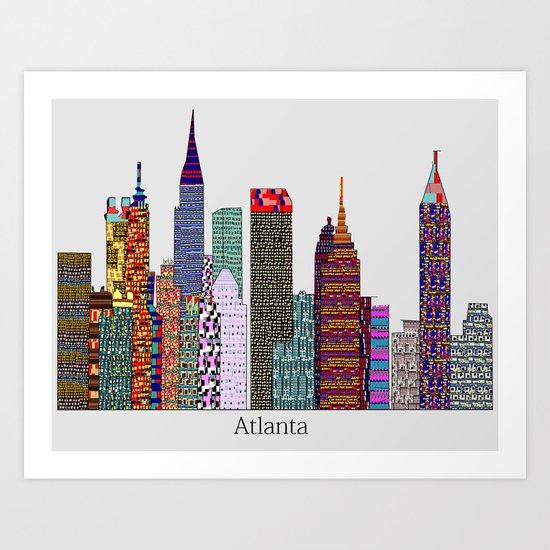 Atlanta city skyline  Art Print