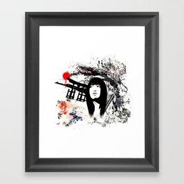 Japanese Geisha Warrior Framed Art Print