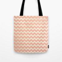peach Tote Bags featuring Peach by C Designz