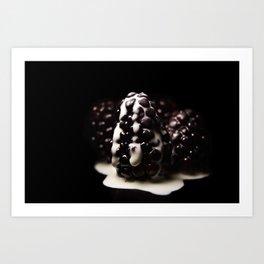 creamed berries Art Print